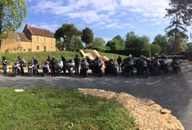 Motards - Groupe de motards séjournant au camping