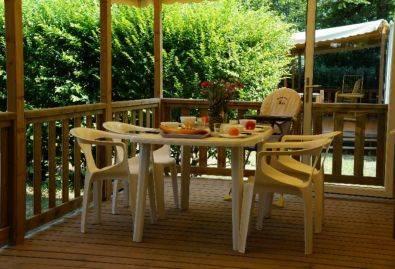 Terrasse - Mobil-home avec terrasse couverte